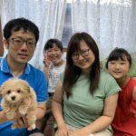 8/22(土)子犬お迎え写真・・・喜びいっぱい笑顔